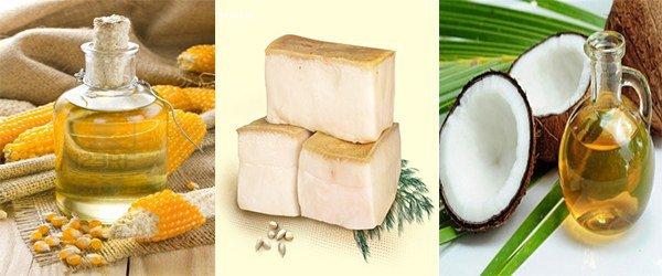 кукурузное и кокосовое масло