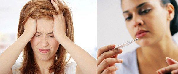 головная боль и высокая температура тела