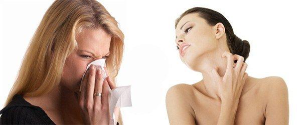 аллергический насморк, зуд