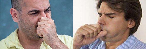 жжение и зуд в носу, кашель