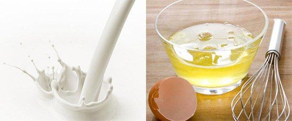 молоко и яичный белок