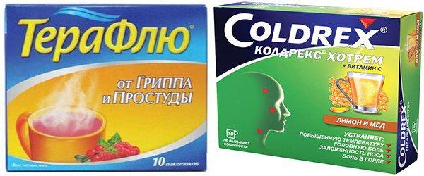 «Терафлю» и «Колдрекс» содержат парацетамол