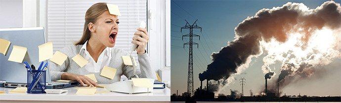 стрессы, плохая экология