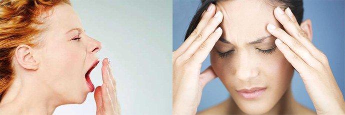 сонливость и головная боль
