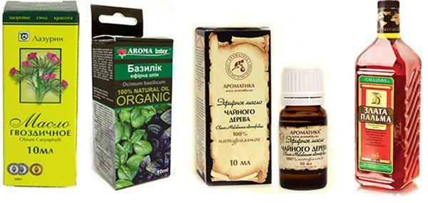 гвоздичное, базилик, эфирное, пальмовое масло