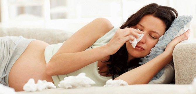 аллергия или простуда у беременных