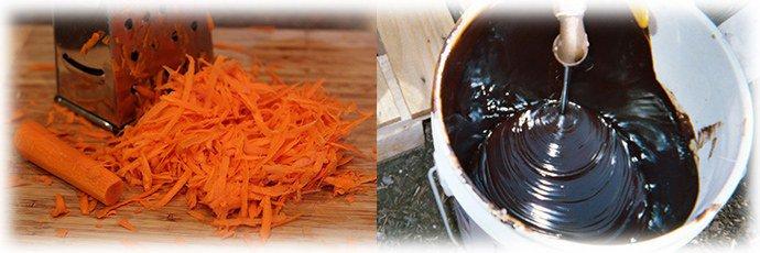 рецепт на основе моркови и березового дегтя