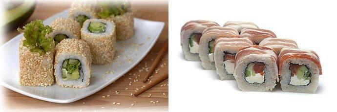 альтернативная начинка суши