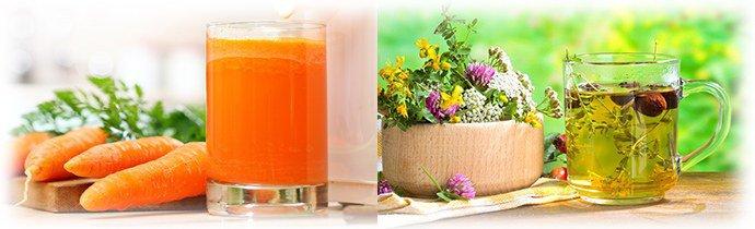 морковный сок в сочетании в с травами