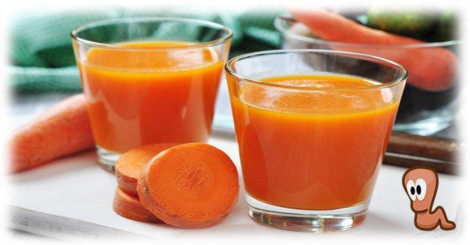 морковный сок от глистов