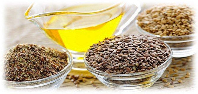 семя льна и растительное масло