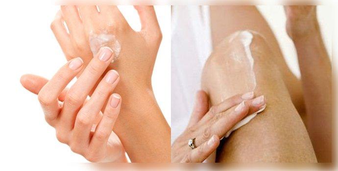 нанесение средства на кожу