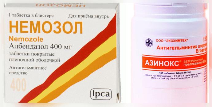 азинокс и немозол