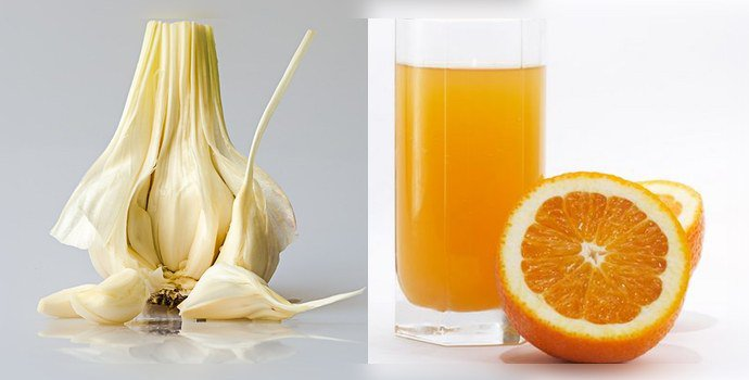Стакан сока и чеснок