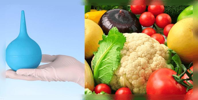 Клизма и диета