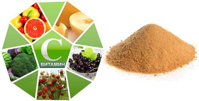Витамин C и танин