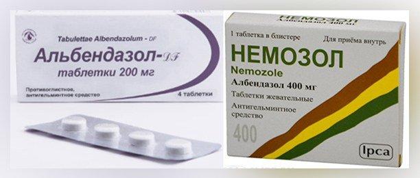 Альбендазол, Немозол