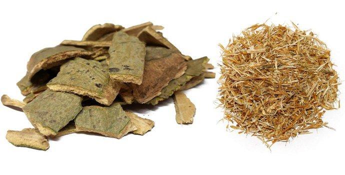 Осиновая кора и холмовая солянка