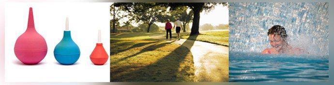 Клизмы, прогулки, водные процедуры
