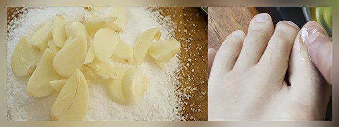 Втирание кашицы с солью
