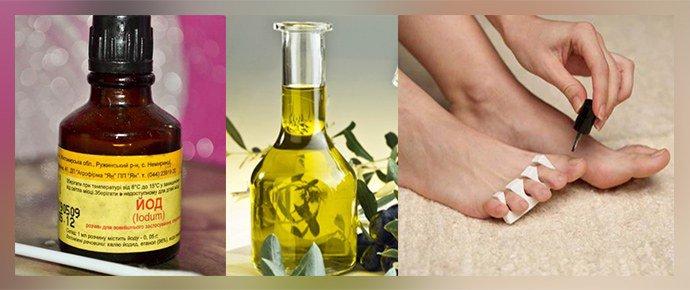 Йод и оливковое масло