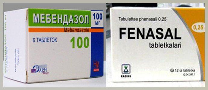 Мебендазол, Фенасал
