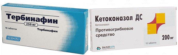 Тербинафин, Кетоконазол