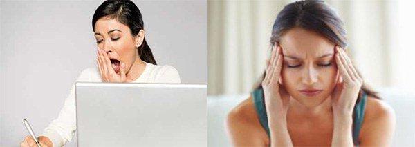 чувство усталости и головная боль