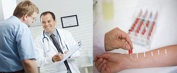 диагностика аллергии на алкоголь