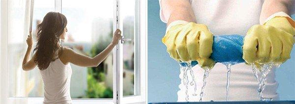 постоянное проветривание, регулярная влажная уборка