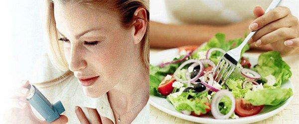 нарушение диеты причина астмы
