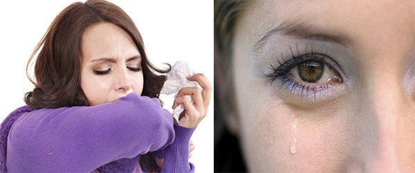 кашель, слезотечение при аллергии на краску