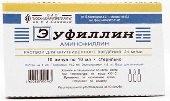Эуфиллин для снятия приступа астмы