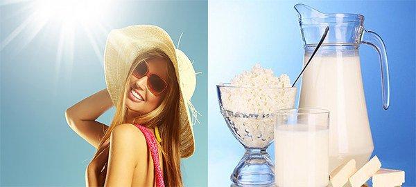 солнечные лучи, и продукты питания как причина дерматита