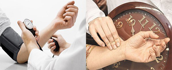 учащение пульса, повышение артериального давления