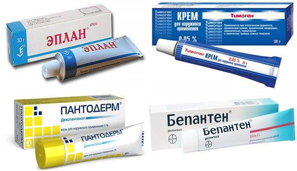дополнительные крема при дерматите