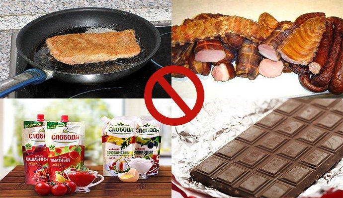 запрещенные продукты при псориазе