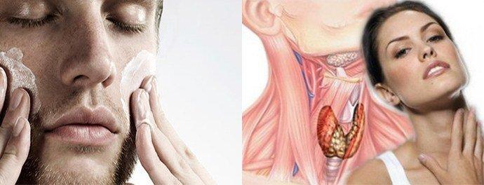 эндокринные нарушения, неправильный уход кожей лица