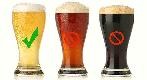 светлое пиво менее опасно