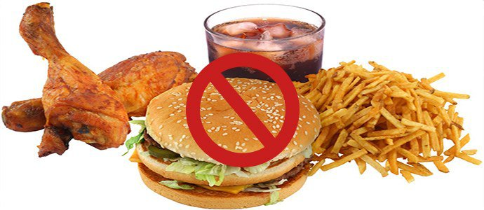 исключить вредные продукты питания