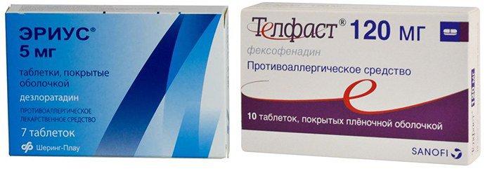 антигистамины при псориазе