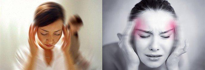 головокружение, мигрень