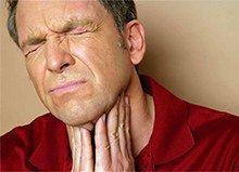 сильная боль при глотании
