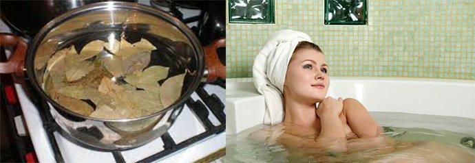 ванна с отваром лаврового листа