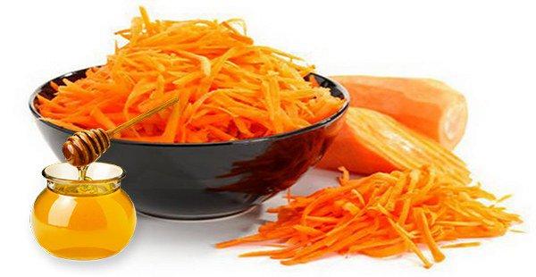 морковь с мёдом