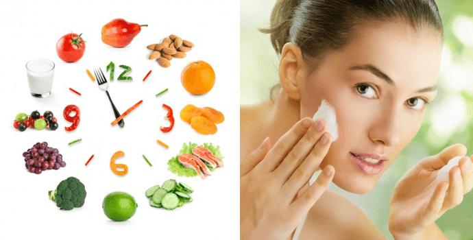 правильное питание и уход за кожей