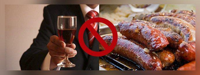 отказ от спиртного и жирных продуктов
