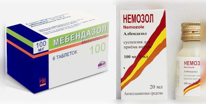 Мебендазол и немозол