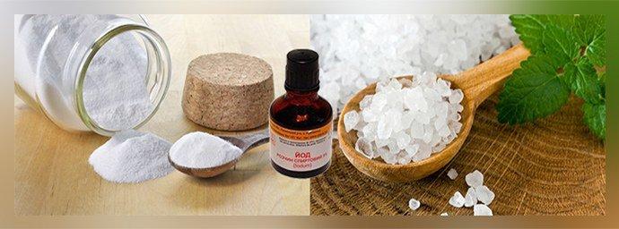 Ванночки с солью и содой