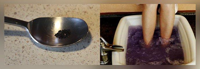 Ванночки с марганцовкой
